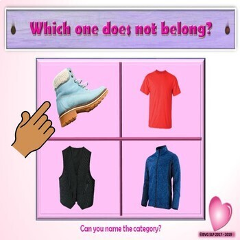 Valentine's Day Category and Sorting Face-to-Face or Speech Teletherapy Activity