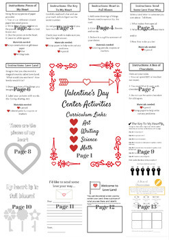 Valentine's Day - Center Activities Package