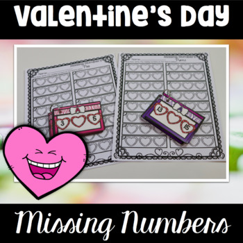 Valentine's Day Center Missing Numbers