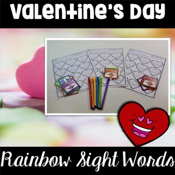 Valentine's Day Center ~ Rainbow Sight Words