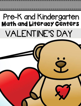 Valentine's Day Centers and Activities for Pre-K/Kindergarten