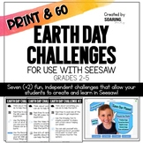 Earth Day Challenges | For Use with Seesaw