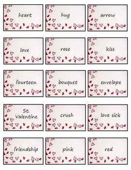 Valentine's Day Charades - 45 Individual Cards