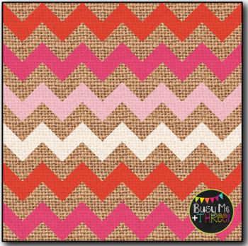 Digital Papers Valentine's Day Chevron Burlap {Commercial Use Graphics}