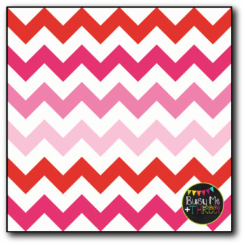 Valentine's Day Chevron on White Digital Papers {Commercial Use Graphics}