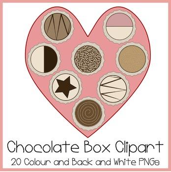 Valentine's Day Chocolate Box Clipart