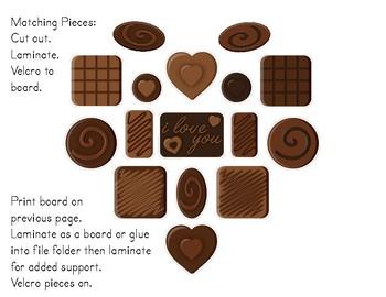Valentine's Day Chocolate Box Matching