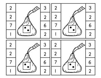 Valentine's Day Chocolate Kisses Math 3-Pack (Preschool)