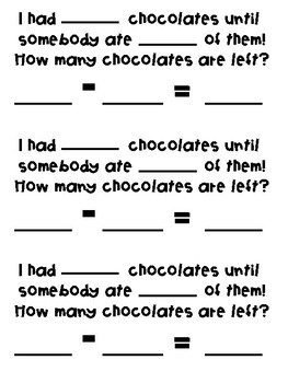 Valentine's Day Chocolate Subtraction Project