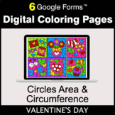 Valentine's Day: Circles Area & Circumference - Digital Co