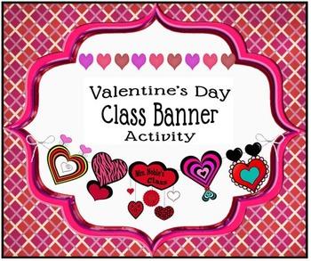 Valentine's Day Class Banner Activity