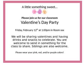 Valentine's Day Class Party Invitation