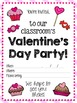 Valentine's Day Class Party Invitations