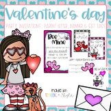 Valentine's Day Editable Class Party Set