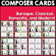 Valentine's Day Classical Composer Cards, Bright, Rainbow, February