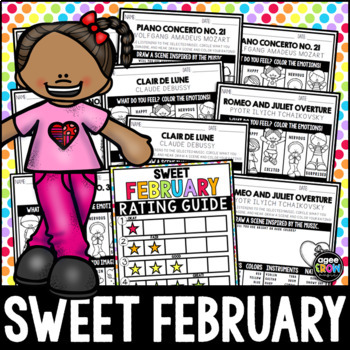 Valentine's Day Classical Listening Sheets, February, Weather, Emotion, Feelings