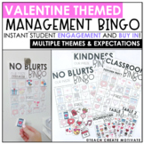Distance Learning | Valentine's Day Classroom Management Bingo | Game | Plan