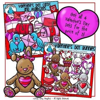 Valentine's Day Clip Art Bundle - Chirp Graphics