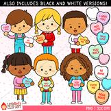 Valentine's Day Clip Art Candy Heart Kids