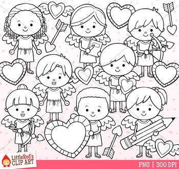 Valentine's Day Clip Art Cupid Kids
