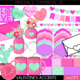 Valentine's Day Clip Art, Digital Paper and Accents