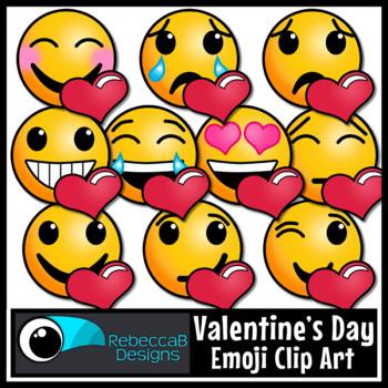 Valentine S Day Emoji Clip Art By Rebeccab Designs Tpt