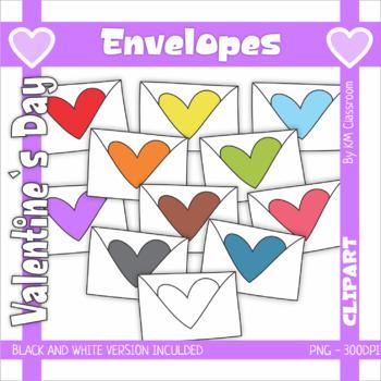 Valentine's Day Clip Art Envelopes