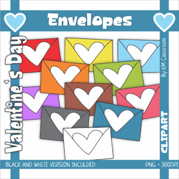 Valentine's Day Clip Art Envelopes
