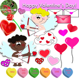Valentine's Day Clip Art Featuring Cupid