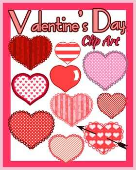 Valentine's Day Clip Art Hearts