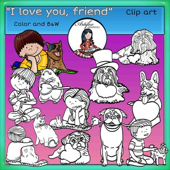 Valentine's Day Clip Art-I love you my friend