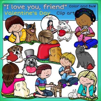 Valentine's Day Clip Art-I love you my friend