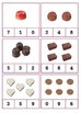 Counting Candies Clipcards Activity and Matching Cards