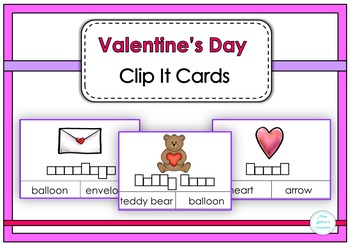 Valentine's Day Clip It Cards