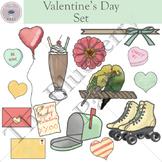 Valentine's Day Clip Art Set