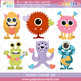 Valentine's Day Monsters Clipart