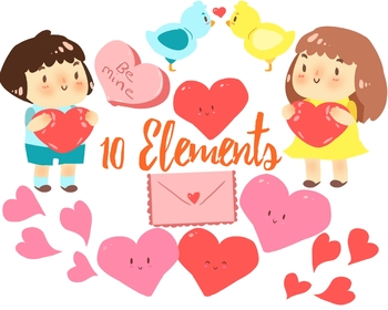 Valentine's Day Clipart Set, For Personal And Commercial Use