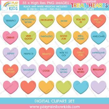 Valentine's Day Treat Hearts Clipart