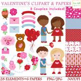 Valentine's Day Clipart, Valentine Clip Art, Love Graphics, Valentine Background
