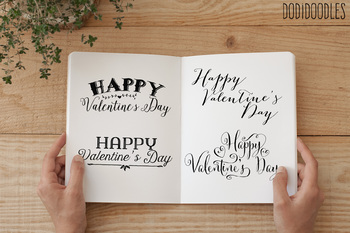 Valentine's Day Clipart, Valentine Overlays, Digital Clipart
