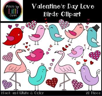 Valentine's Day Clipart - Valentine's Day Love Birds Clipart