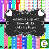 Valentine's Day Clips and Coloring