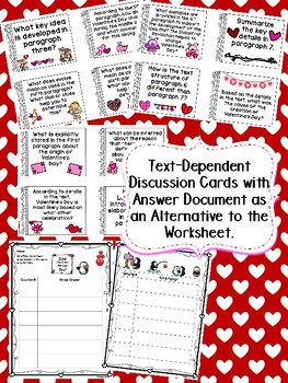 Valentine's Day Close Read Text with 4 Lexile Options & Close Reading Resources