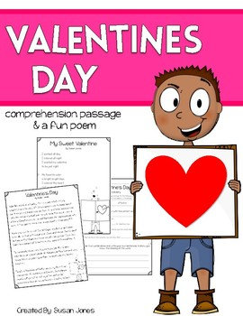 Valentine's Day Close Reading Passage and Poem