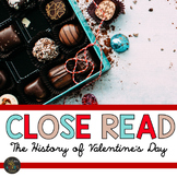 Valentine's Day Close Reading Passage w/ Questions and Close Reading PowerPoint