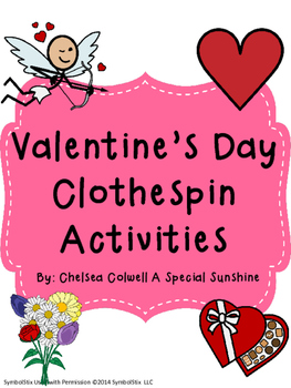 Valentine's Day Clothespin Activities