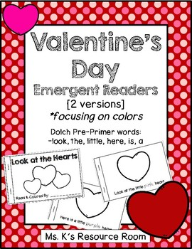 Valentine's Day Color Book - Emergent Reader