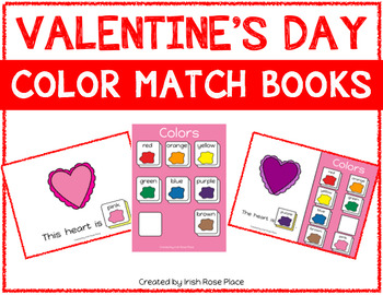 Valentine's Day Color Books (Adapted Books)