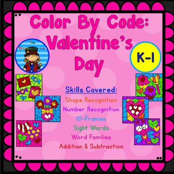 Valentine's Day Color By Code