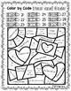 Valentine's Day Color By Code - First Grade Place Value Tens and Ones